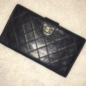 Vintage Chanel Lambskin Wallet AUTHENTIC